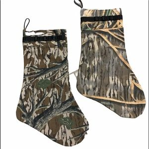 Two Christmas Camouflage Stockings